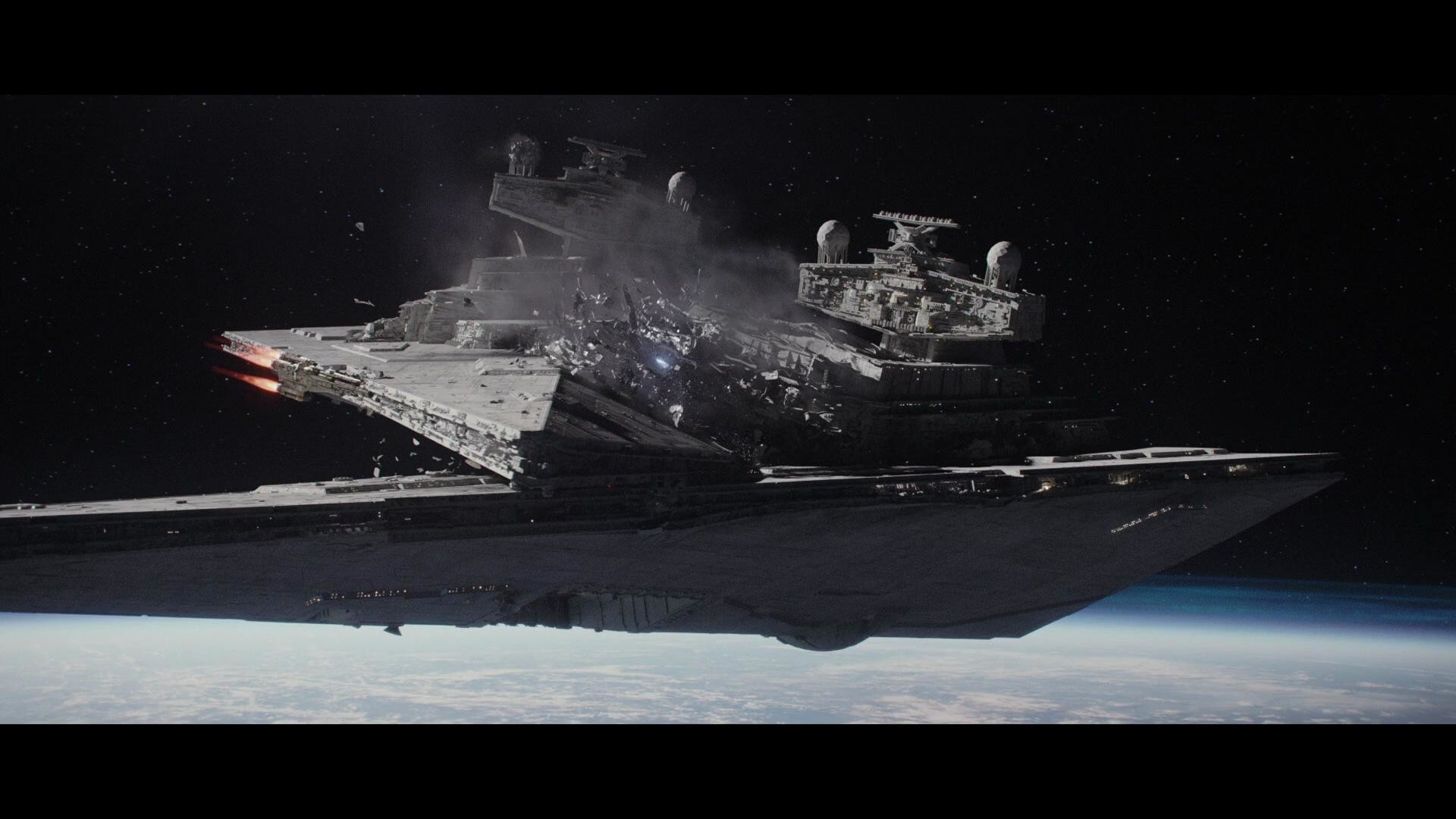 Star Wars Rogue One Star Destroyer Crash 1852242 Hd Wallpaper