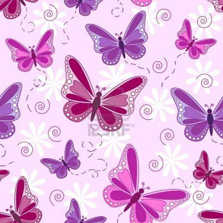 Butterfly Wallpapers Free Download Wallpapers Adorable - Fundo Rosa Escuro Com Borboleta , HD Wallpaper & Backgrounds