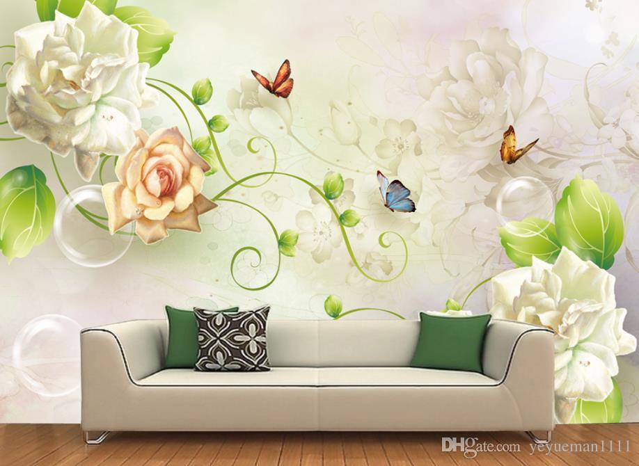 3d Mural Wallpaper Butterfly Peony Flower Wallpaper - Wallpaper , HD Wallpaper & Backgrounds