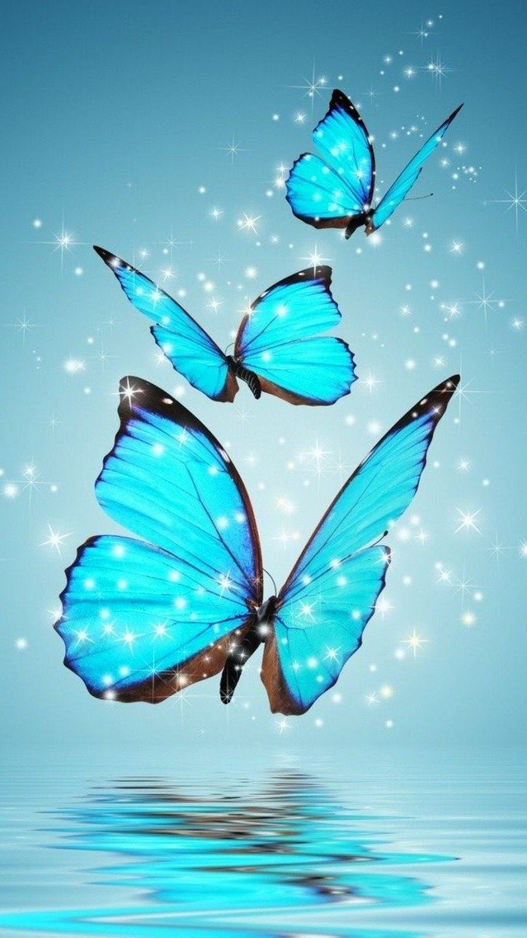 Blue Butterfly Wallpaper Mobile Android 2019 Cute Wallpapers - Fb Cover Background Butterfly , HD Wallpaper & Backgrounds
