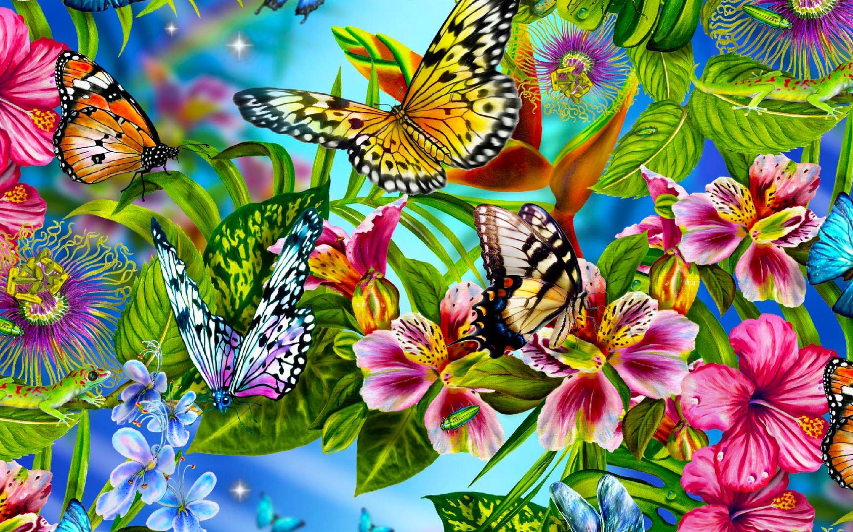 Beautiful Butterflies Wallpaper - Butterfly Wallpaper Hd , HD Wallpaper & Backgrounds