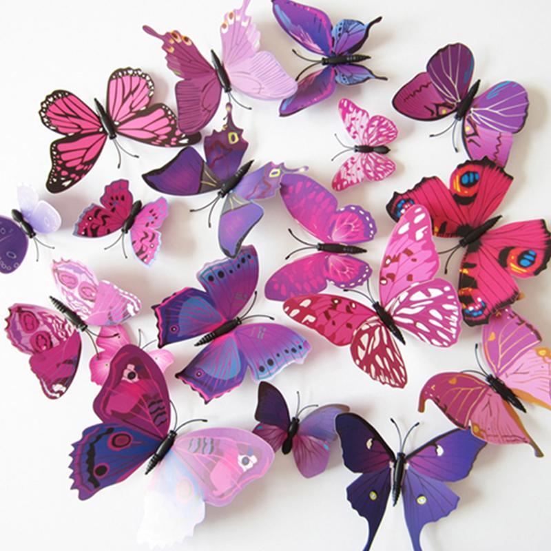 = A Beautiful Art Design 3d Butterfly Tatoos Wall Sticker - Decoracion 15 Con Mariposas , HD Wallpaper & Backgrounds