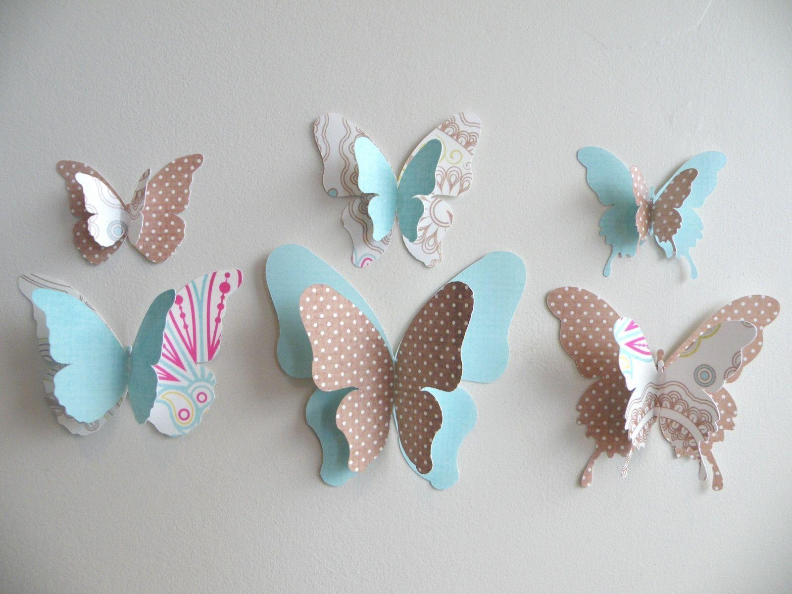 Butterfly 3d Wall Decor Wallpaper - Make 3d Butterfly Wall Decor , HD Wallpaper & Backgrounds