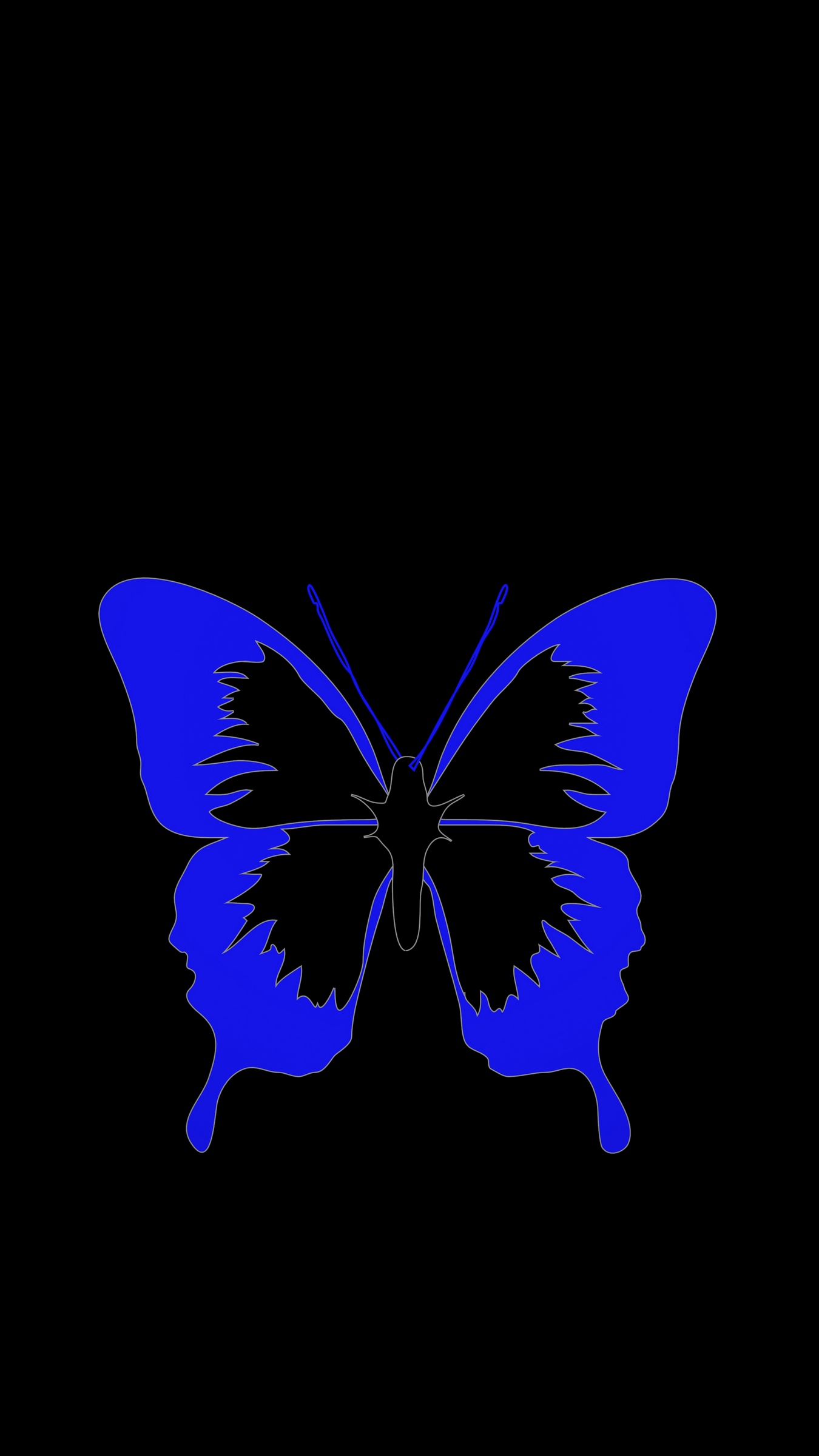 Wallpaper Butterfly Minimalism Black Blue Black And Blue Wallpaper 4k 1854254 Hd Wallpaper Backgrounds Download