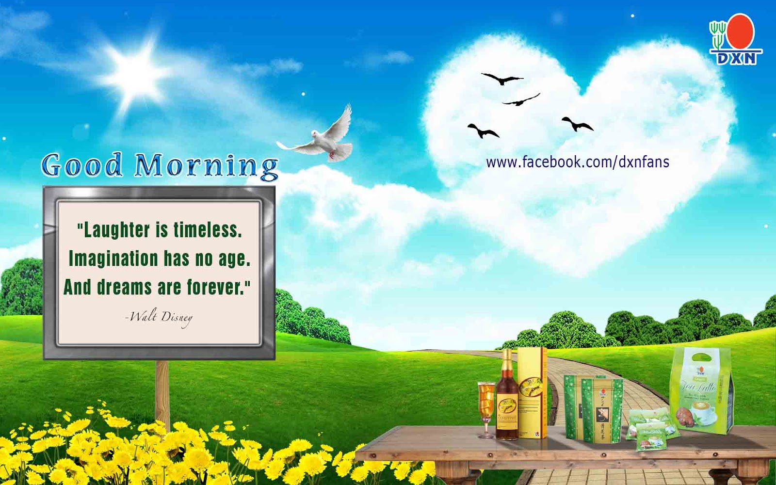 Welcome To The Dxn Fans Blog Good Morning Dxn - Beautiful Nature Heart , HD Wallpaper & Backgrounds