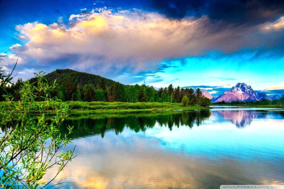 Landscape Oil Painting Nature , HD Wallpaper & Backgrounds