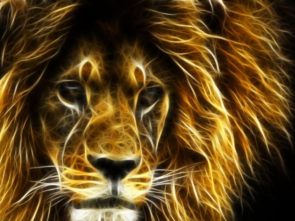3d - 3d Lion Wallpaper Download , HD Wallpaper & Backgrounds