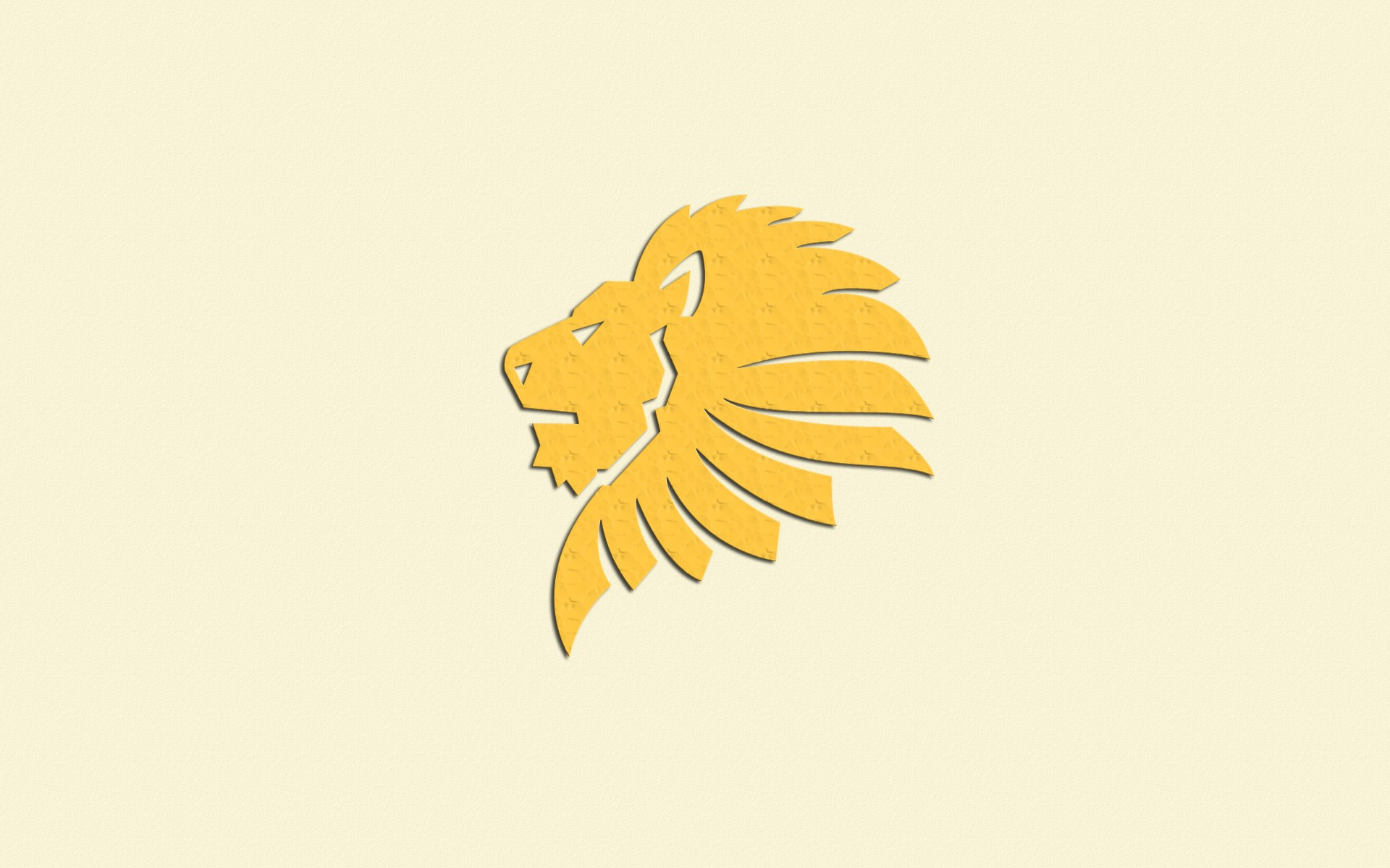 Lion Yellow Art - Illustration , HD Wallpaper & Backgrounds