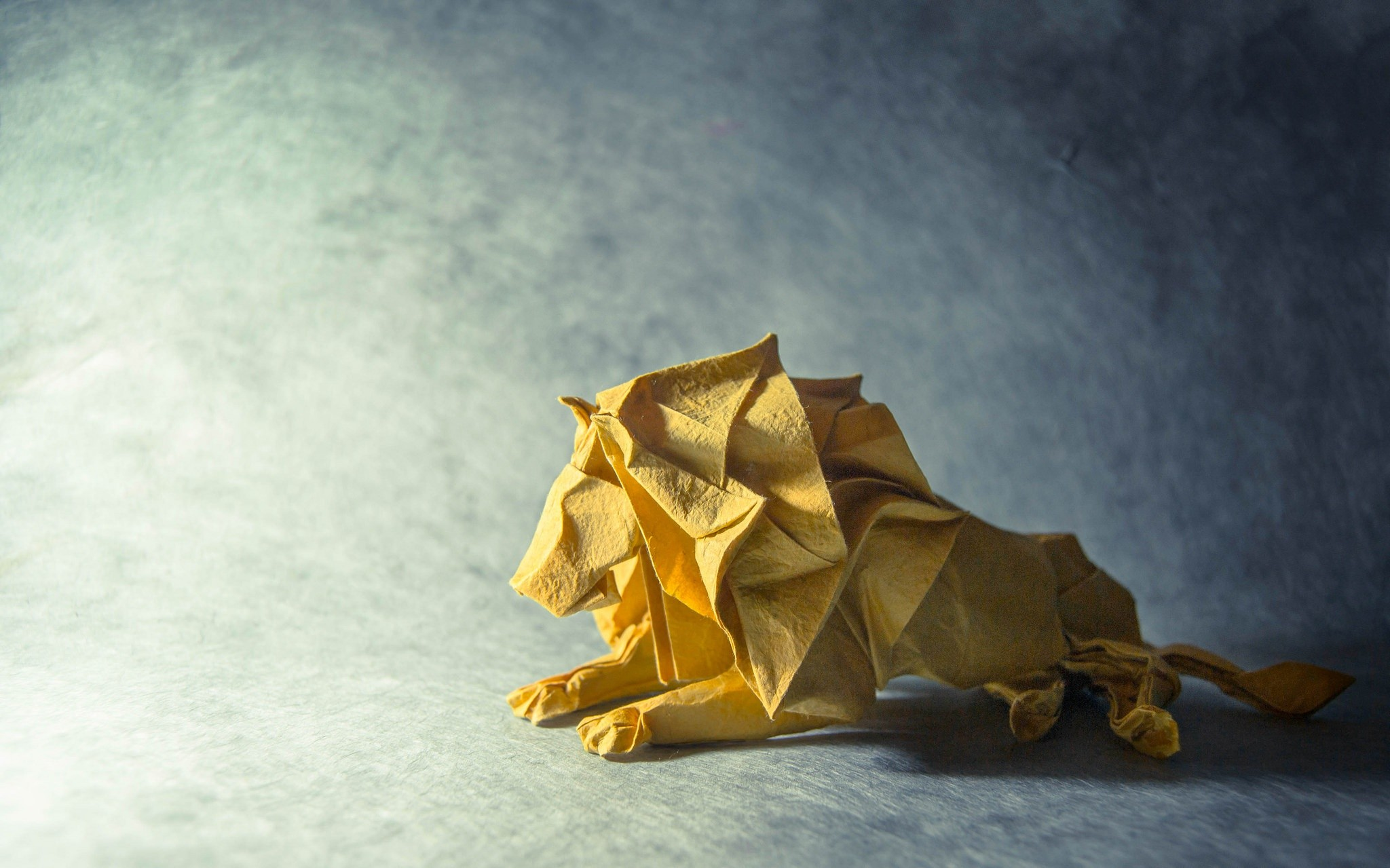 Origami Paper Lion Animals Wallpaper And Background - Origami Wallpaper Hd , HD Wallpaper & Backgrounds