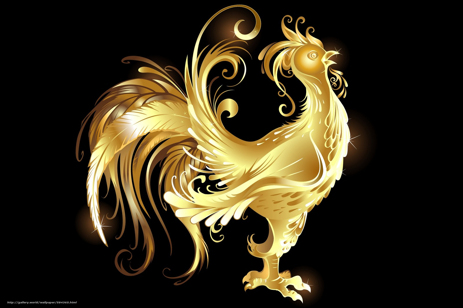 Gold Rooster , HD Wallpaper & Backgrounds