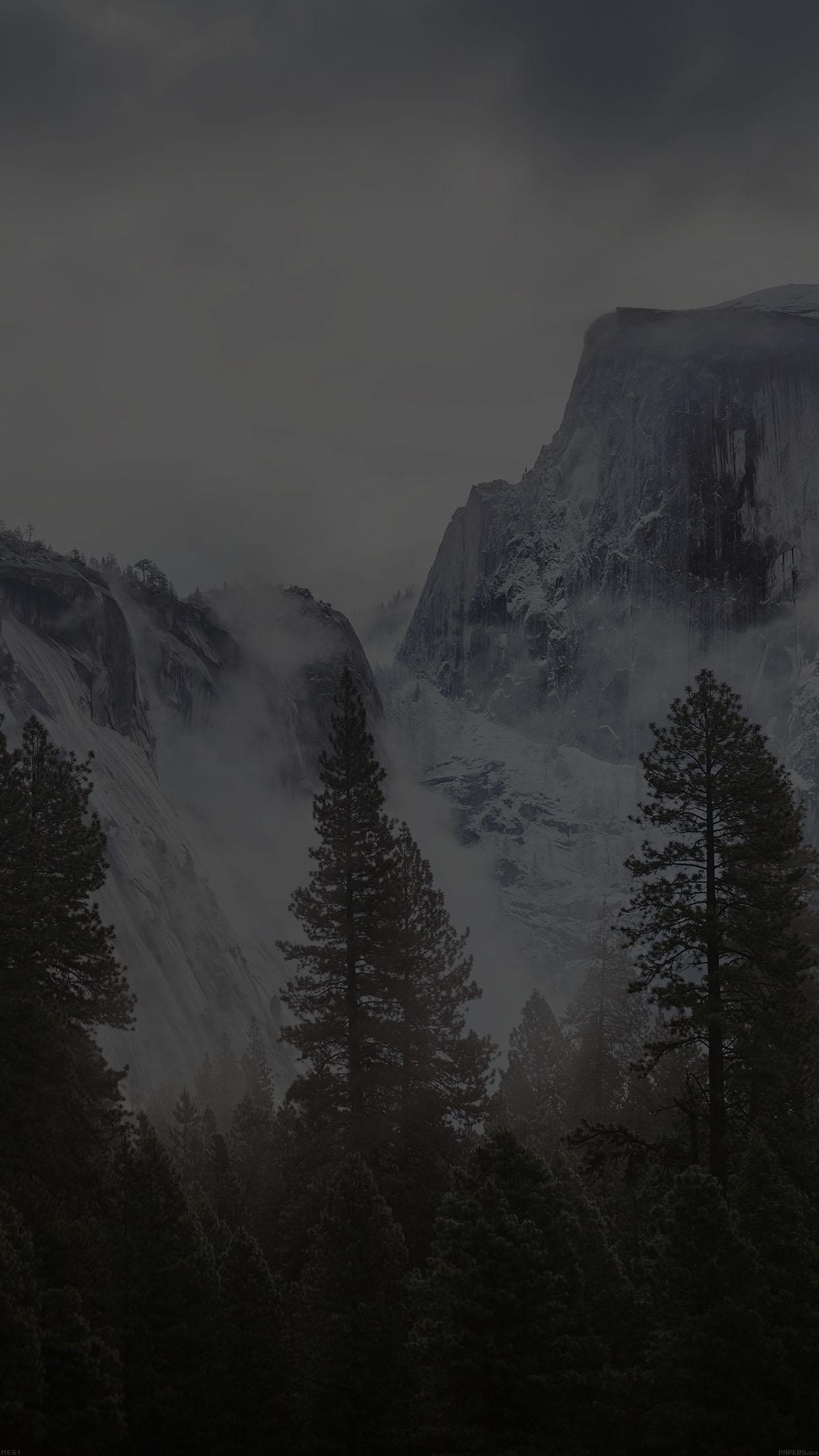 Iphone 6 Plus - Black Mountains Wallpaper Iphone 8 Plus , HD Wallpaper & Backgrounds