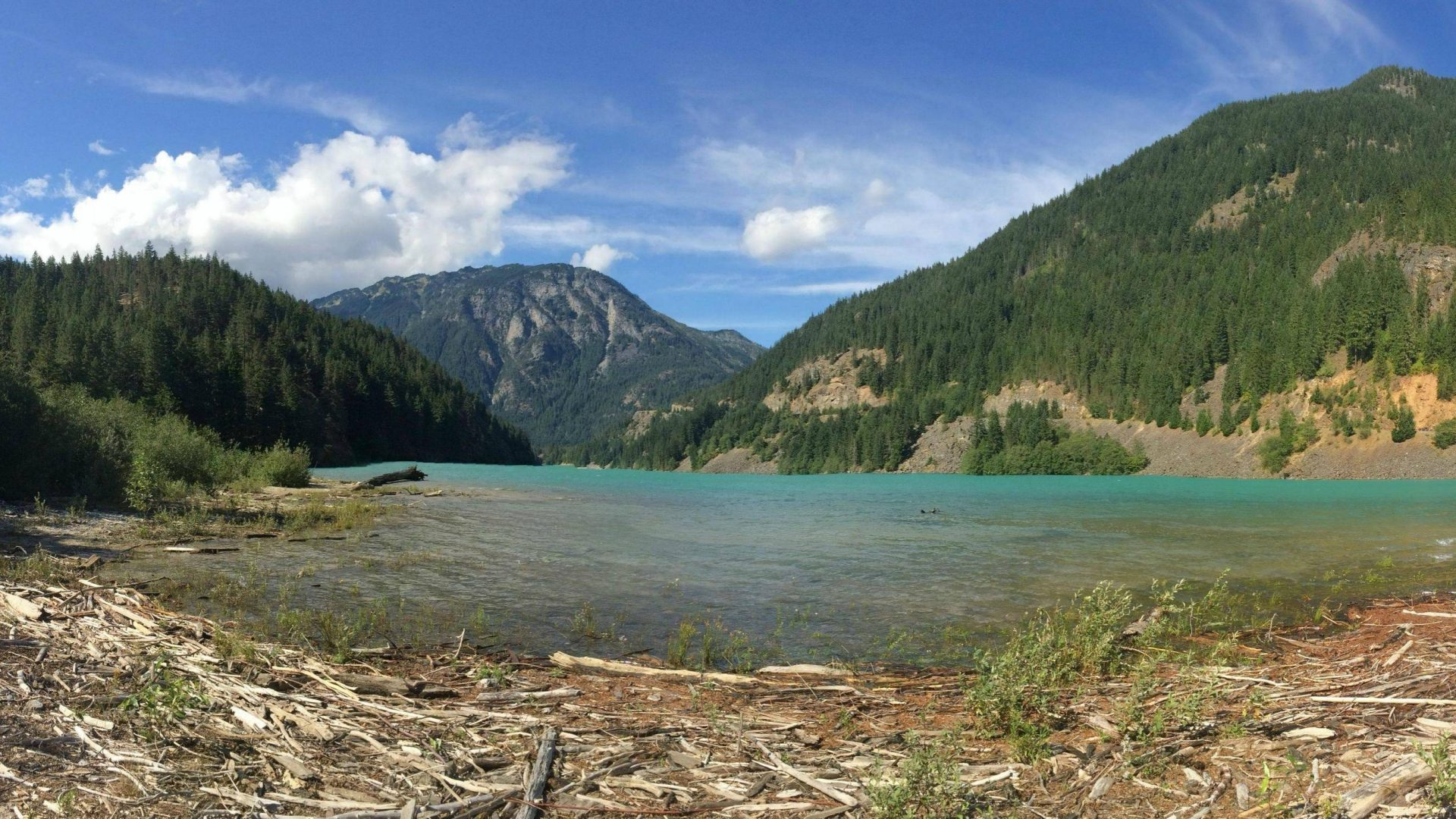 Cascades National Park Cool Mountains Lake Nature Fun - Mount Scenery , HD Wallpaper & Backgrounds