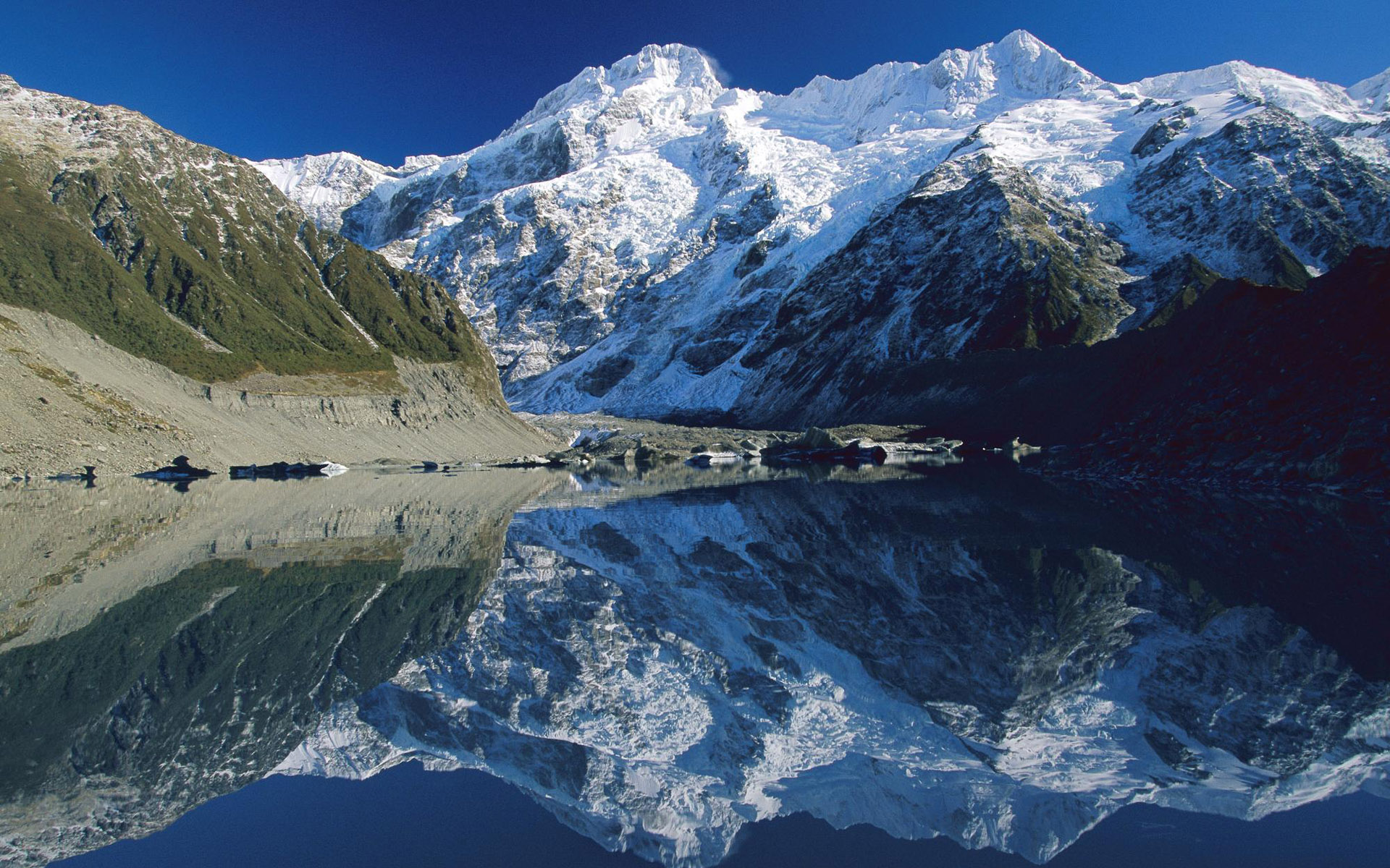 White Mountains - Glacier Lake New Zealand , HD Wallpaper & Backgrounds