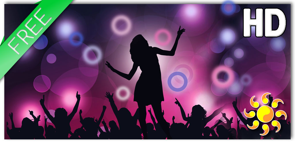 Neon Disco Lwp Free Android Live Wallpaper Download - Dance Related , HD Wallpaper & Backgrounds