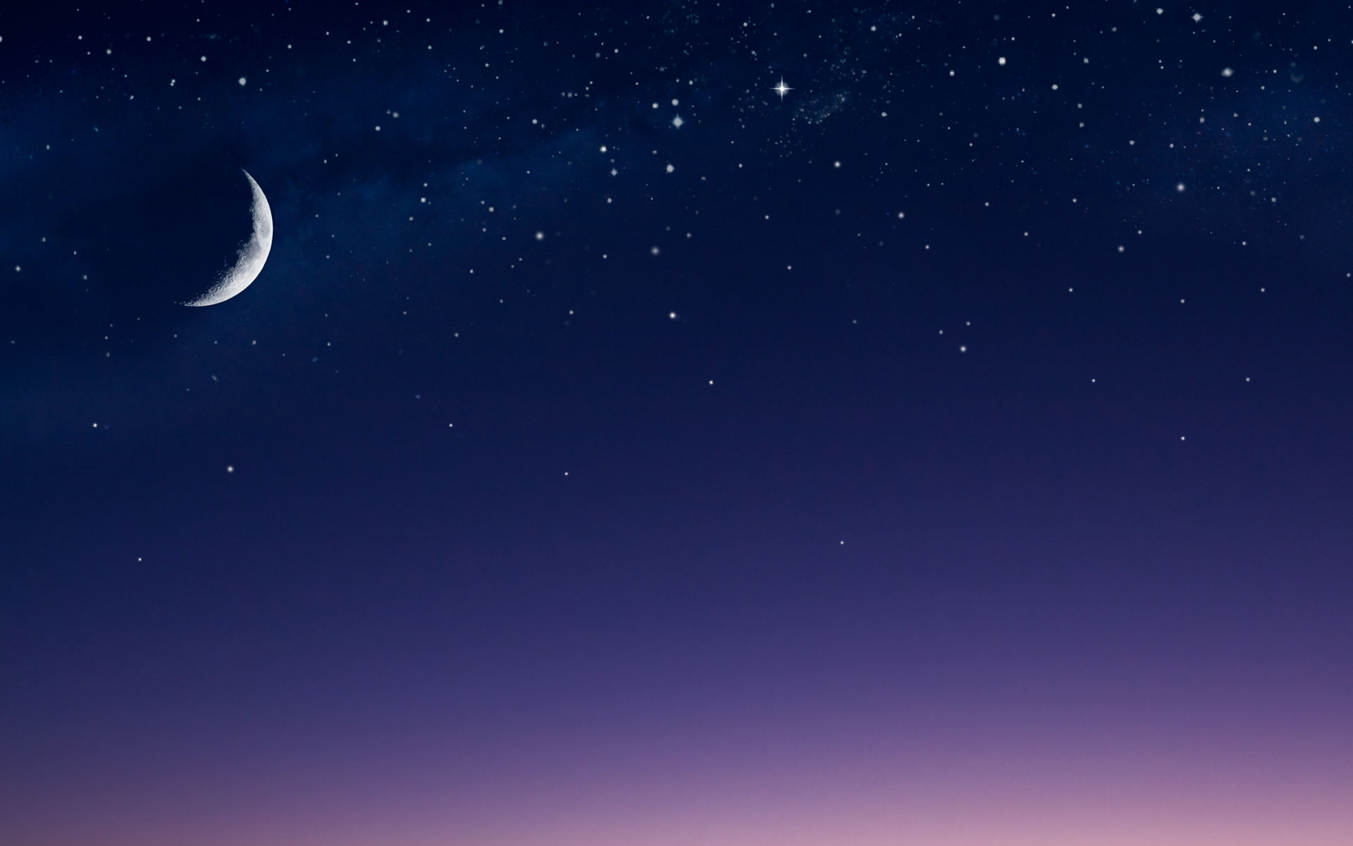 Moon, Night, Crescent Wallpaper And Background - Pretty Pictures Of The Night Sky , HD Wallpaper & Backgrounds
