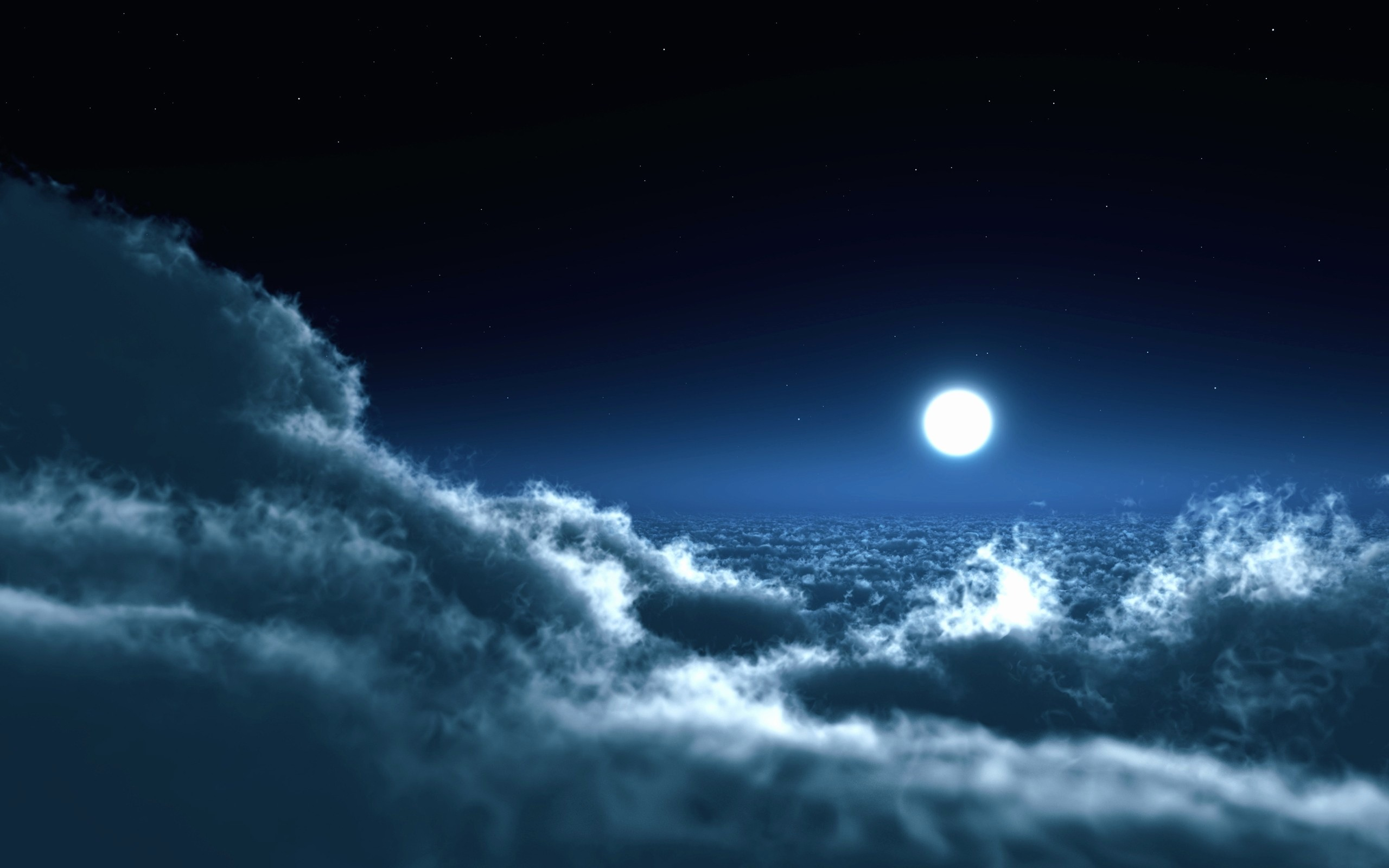 Vintage Sailing Ship In The Full Moon Wallpaper - Night Sky Above Clouds , HD Wallpaper & Backgrounds