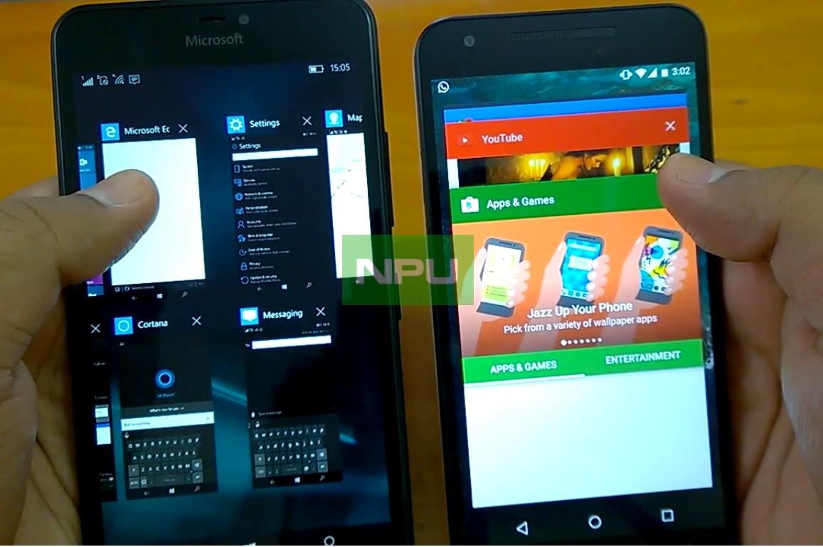 0 Nougat Vs Windows 10 Mobile Redstone Android O