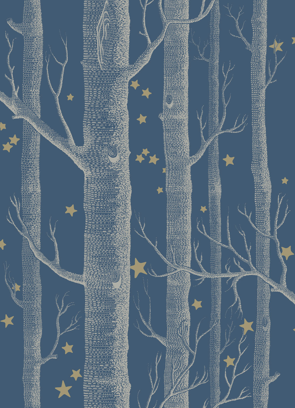 Cole Son Woods And Stars Midnight Blue Wallpaper Cole