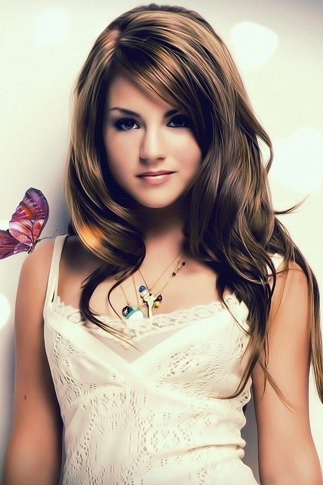 Hot Cute Girl Wallpaper - Butterfly With Cute Girl , HD Wallpaper & Backgrounds