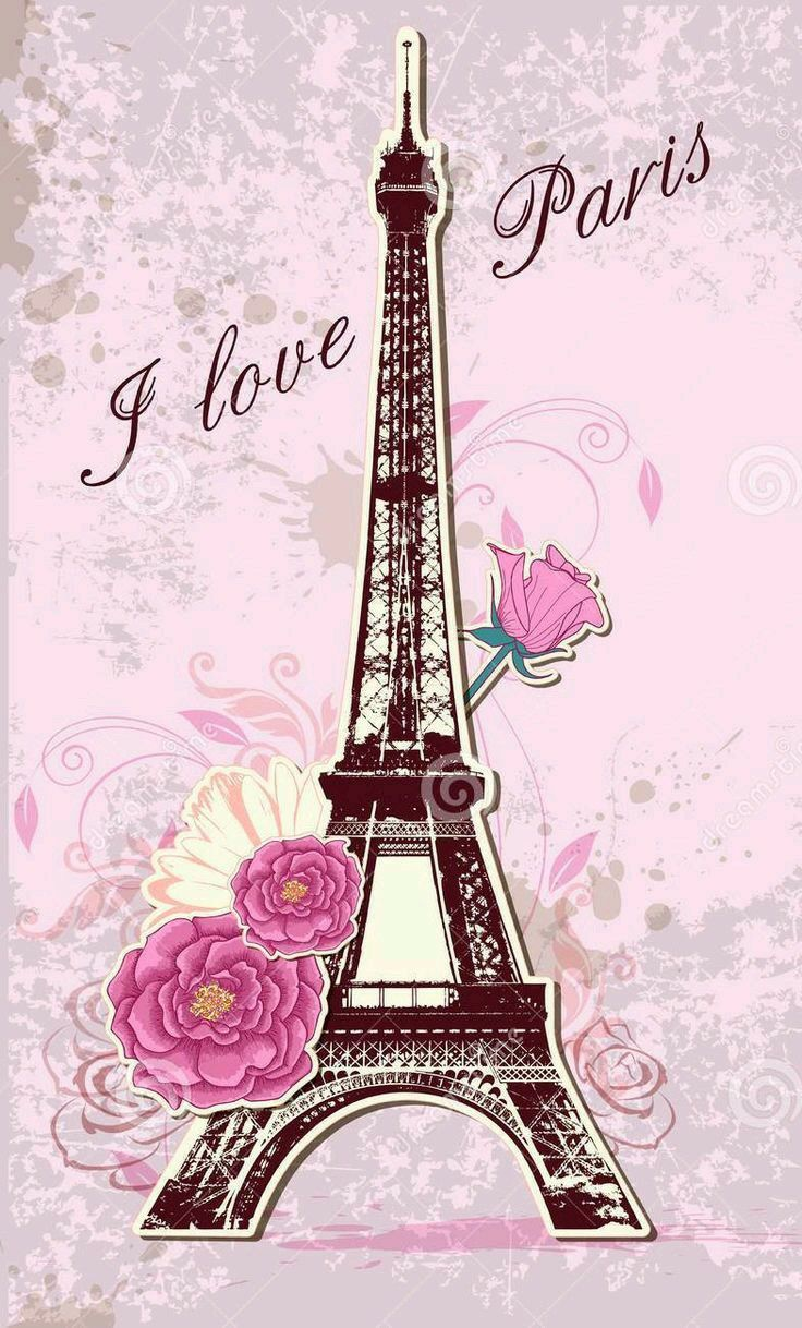 Paris Wallpaper Pink HD Wallpaper & Backgrounds