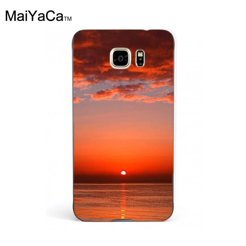 Maiyaca M84405 Bloody Red Ocean Sunset Hd Wallpaper Iphone
