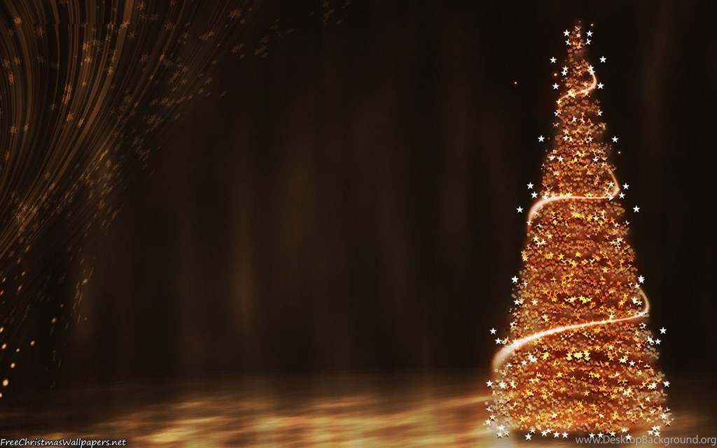 Gold Christmas Tree Background , HD Wallpaper & Backgrounds
