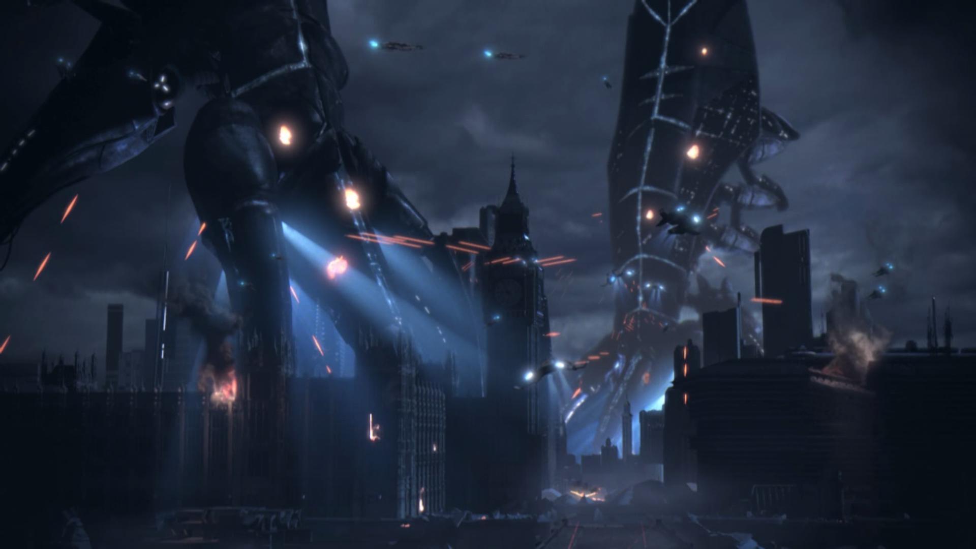 Wallpaper Battle In London - Mass Effect 3 Backgrounds , HD Wallpaper & Backgrounds