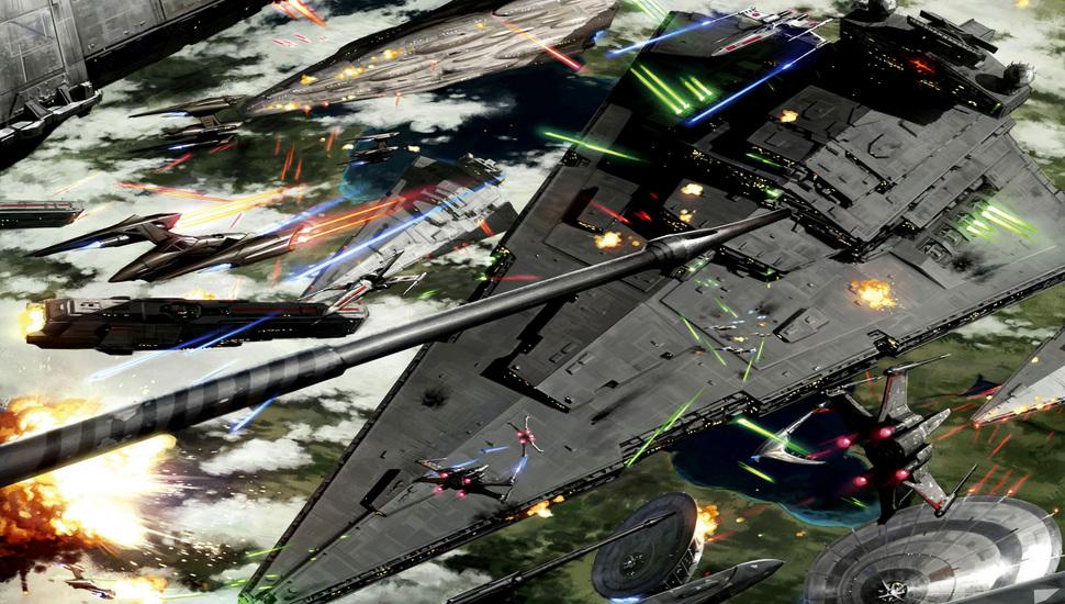 Battle Of Kashyyyk, Space Battle, Star Wars, Art Desktop - Star Wars Space Battle Phone , HD Wallpaper & Backgrounds