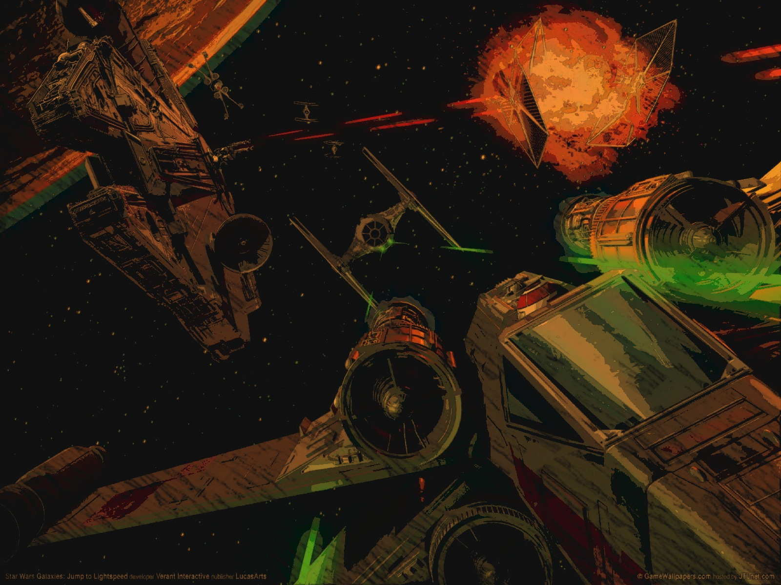 Space Battle Star Wars Galaxies 1878368 Hd Wallpaper