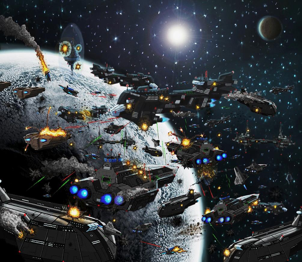 Star Wars Planet Moon Battle Space Art Wallpapers Star Wars