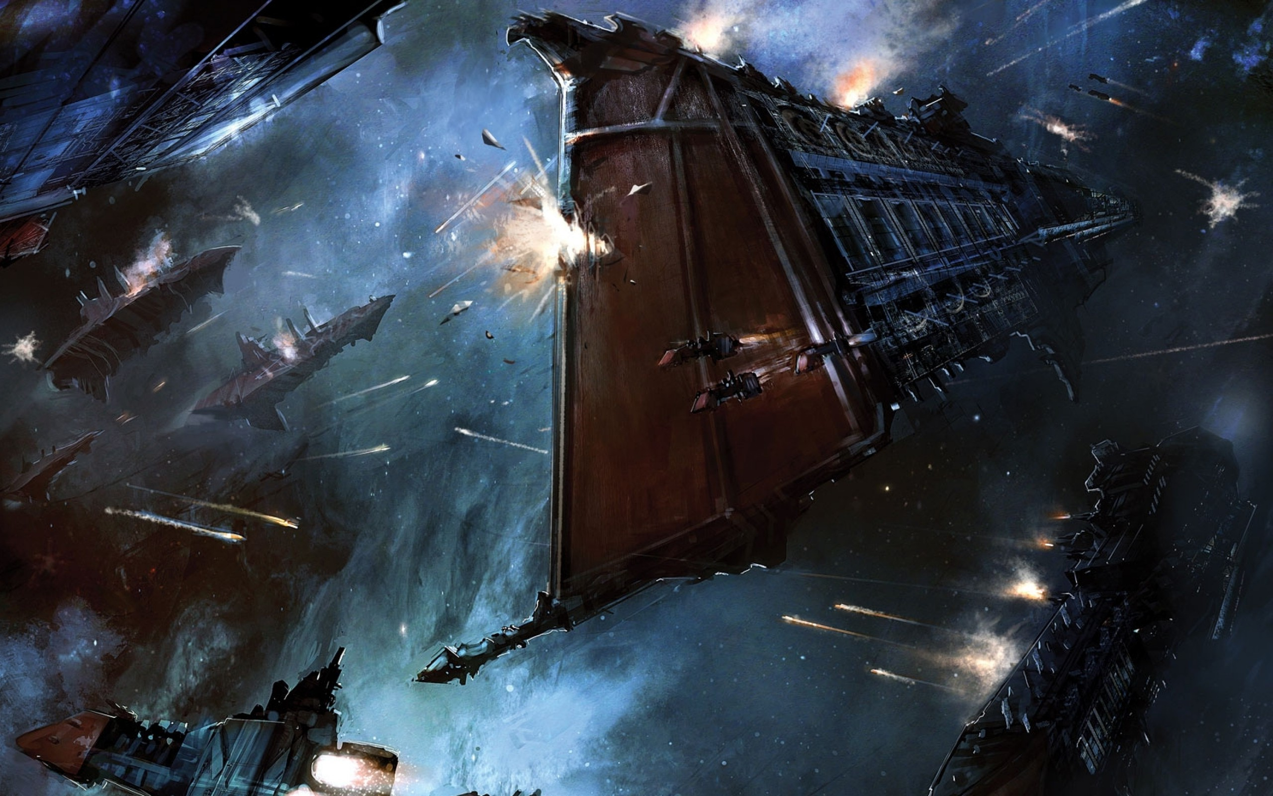 Artwork, Fantasy Art, Digital Art, Spaceship, War, - Warhammer 40k Ship Art , HD Wallpaper & Backgrounds