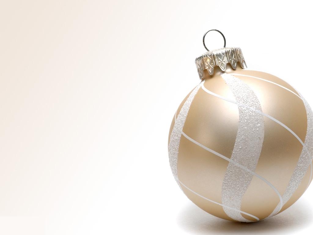 Christmas White Gold Wallpaper - Papel De Parede Bolas De Natal , HD Wallpaper & Backgrounds