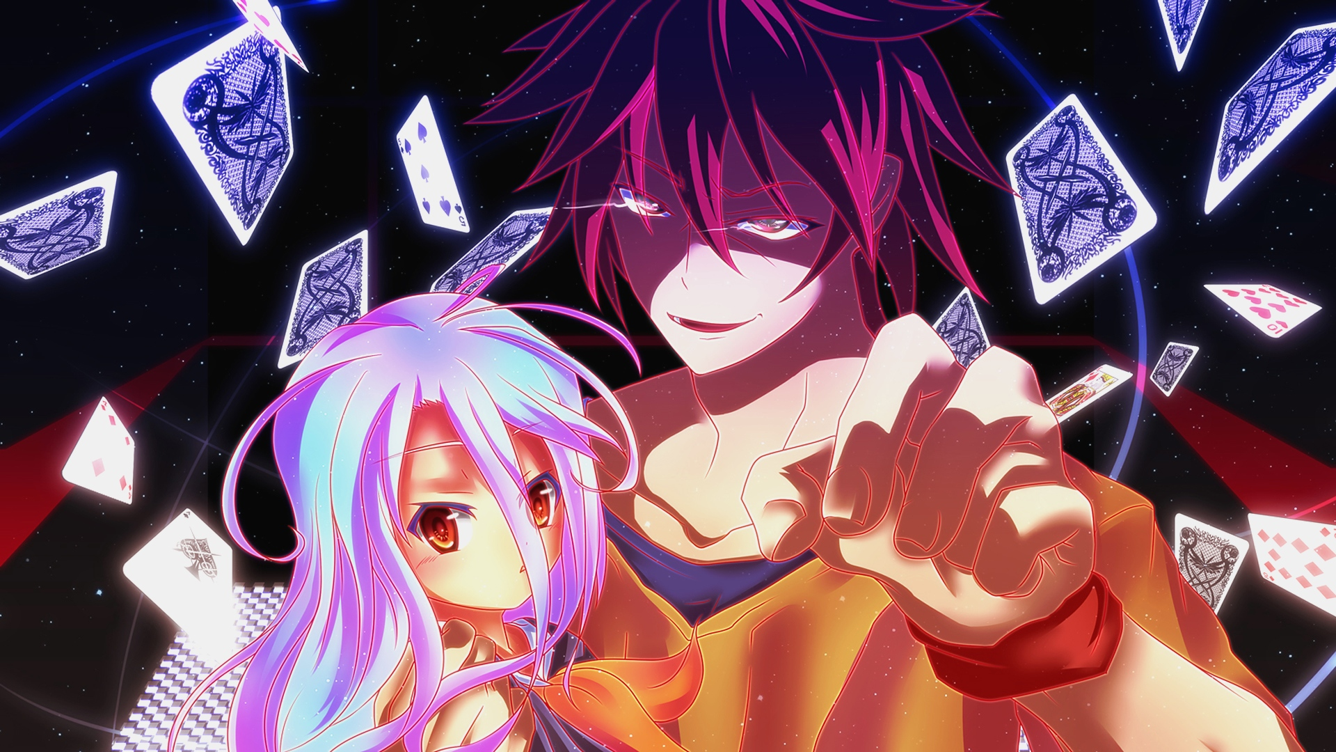 Shiro And Sora No Game No Life Anime Hd 1080p Wallpaper No Game
