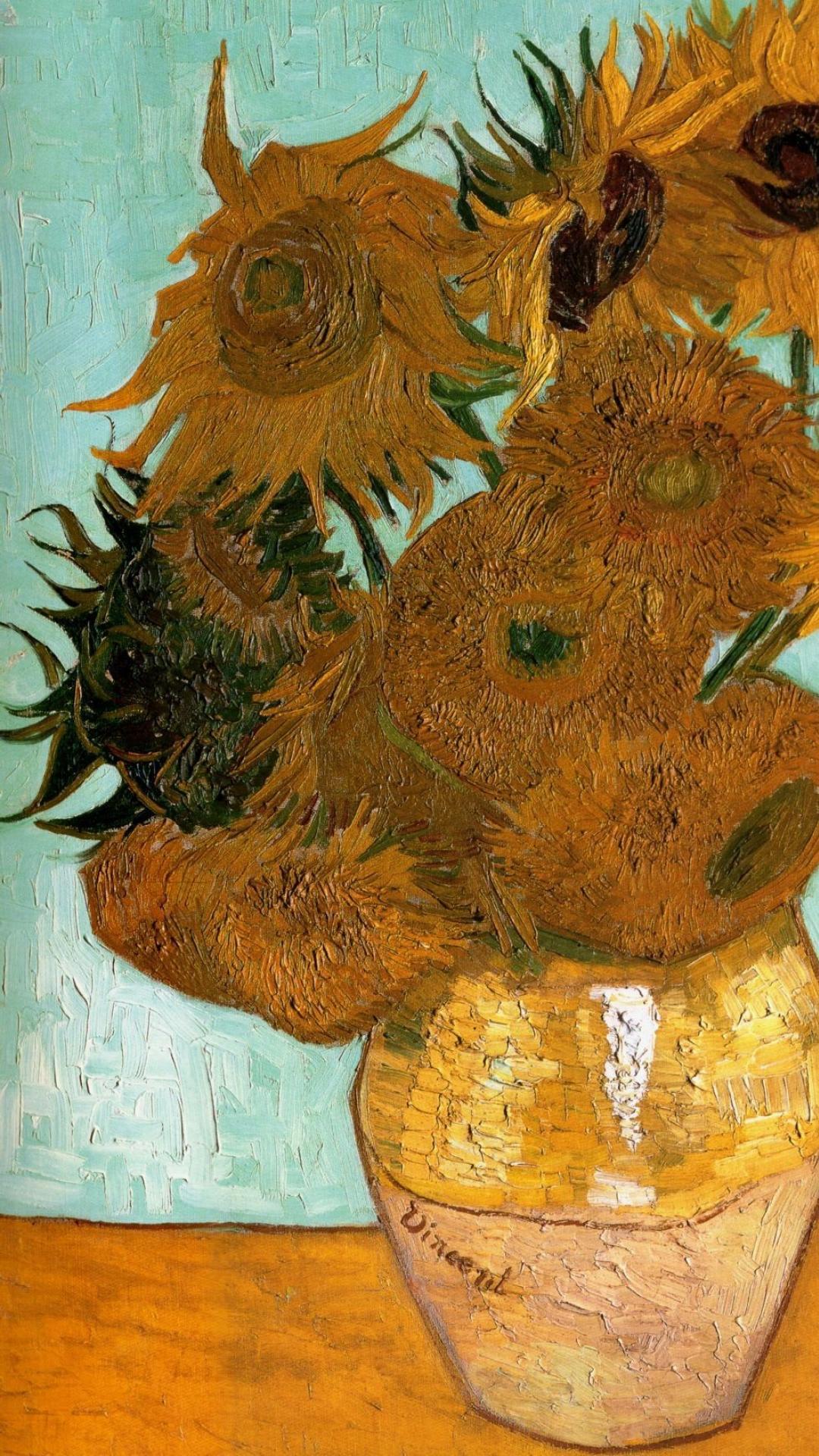 Sunflowers Van Gogh Iphone X 1884994 Hd Wallpaper