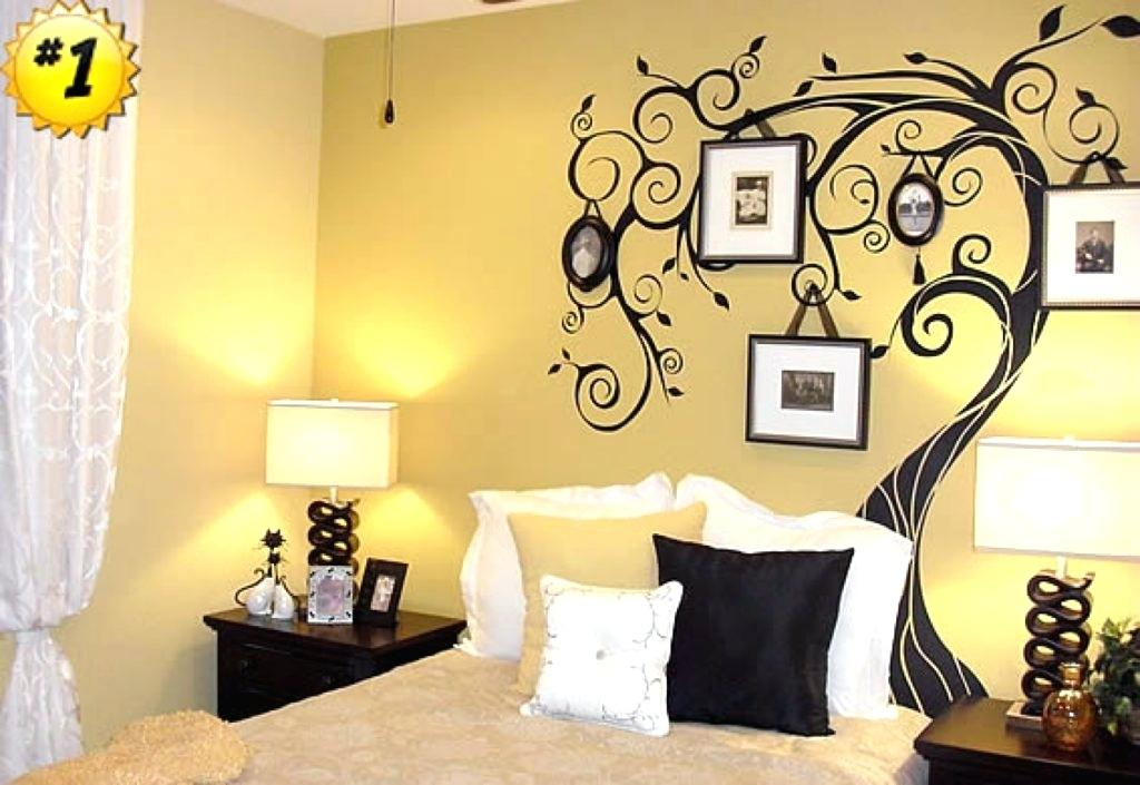 Bedroom Wall Painting Designs Enchanting The Best Wallpaper - Wall Painting In Bedroom , HD Wallpaper & Backgrounds