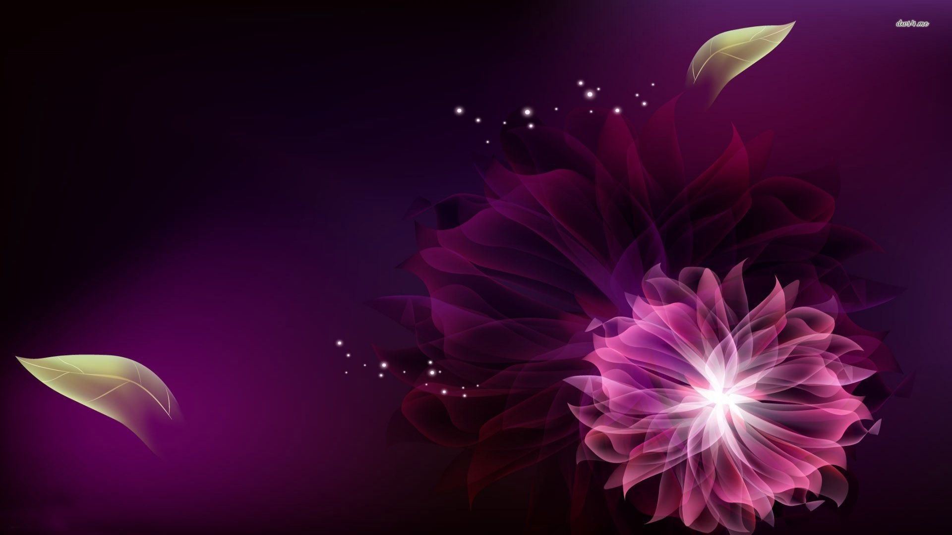 Purple Flowers Backgrounds Dark Purple Floral Background