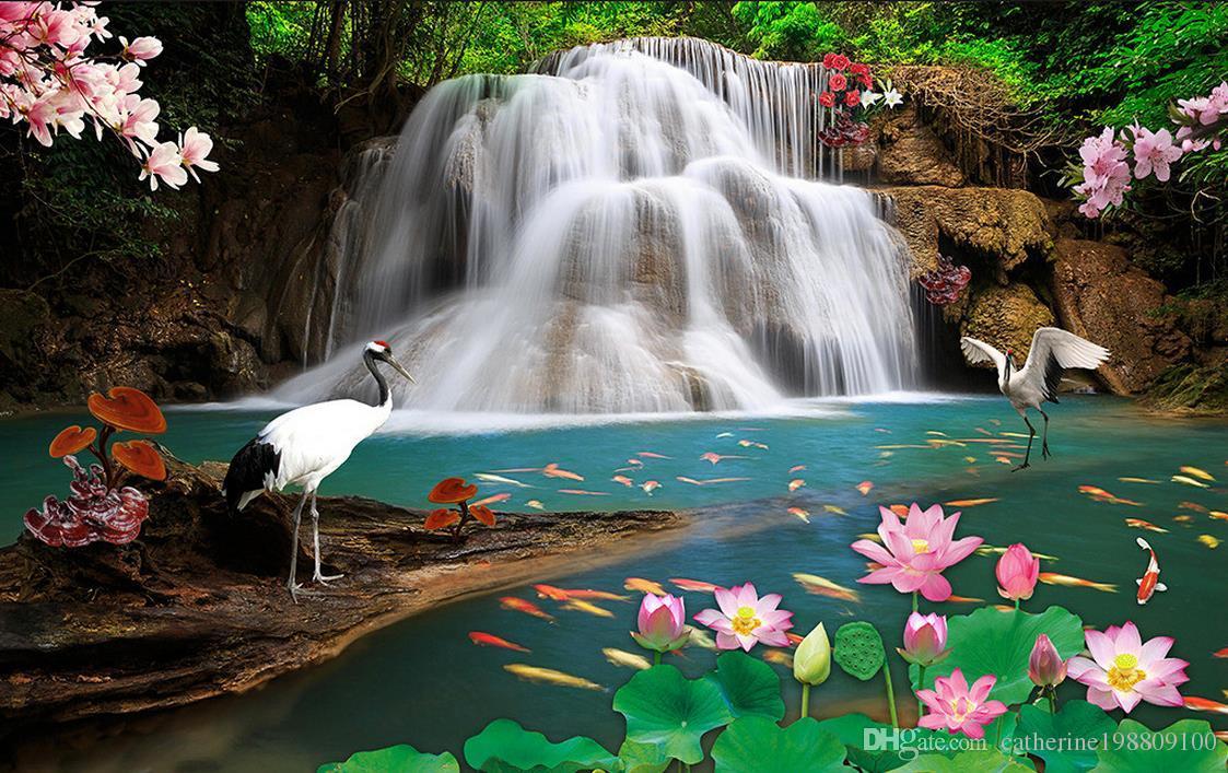 High Quality Customize Size 3d Stereoscopic Wallpaper - Ultra Hd 4k Waterfall , HD Wallpaper & Backgrounds