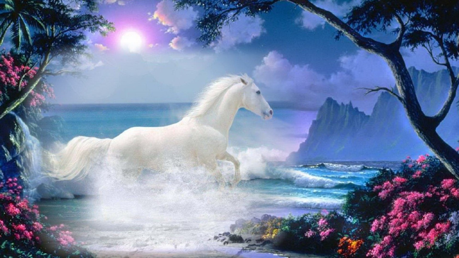 घोड़े - Most Beautiful Nature Paintings , HD Wallpaper & Backgrounds
