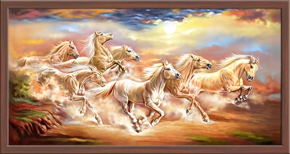 Seven Horses Wallpaper 7 Horse Painting 1892278 Hd