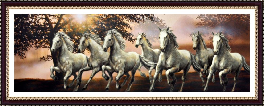Seven Horse Wallpaper Vastu 7 Horses Painting 1893516 Hd Wallpaper Backgrounds Download