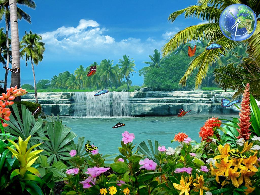 Living Waterfalls 3 Free 3d Screensaver Animated