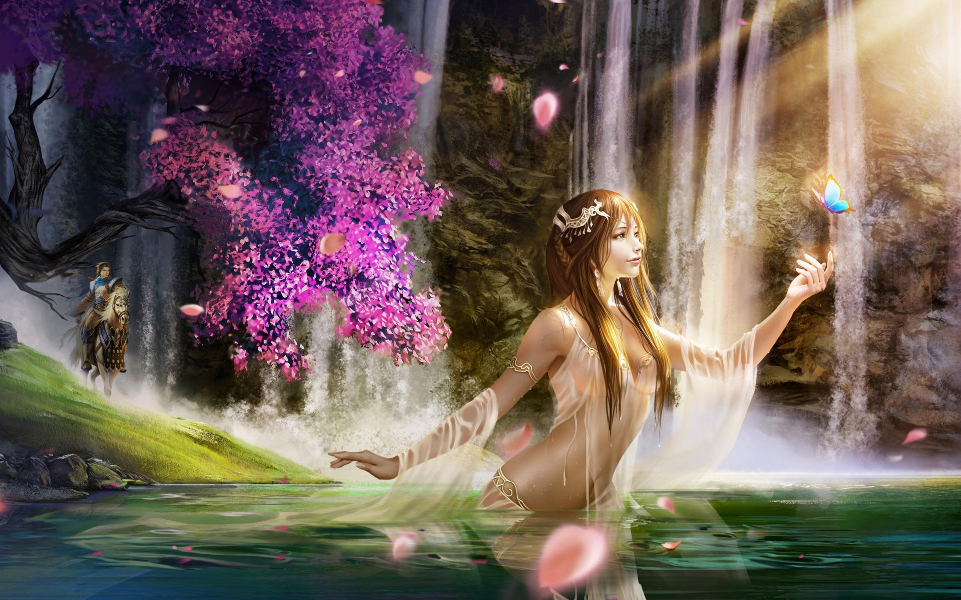 Nature Fairy Wallpaper Hd , HD Wallpaper & Backgrounds