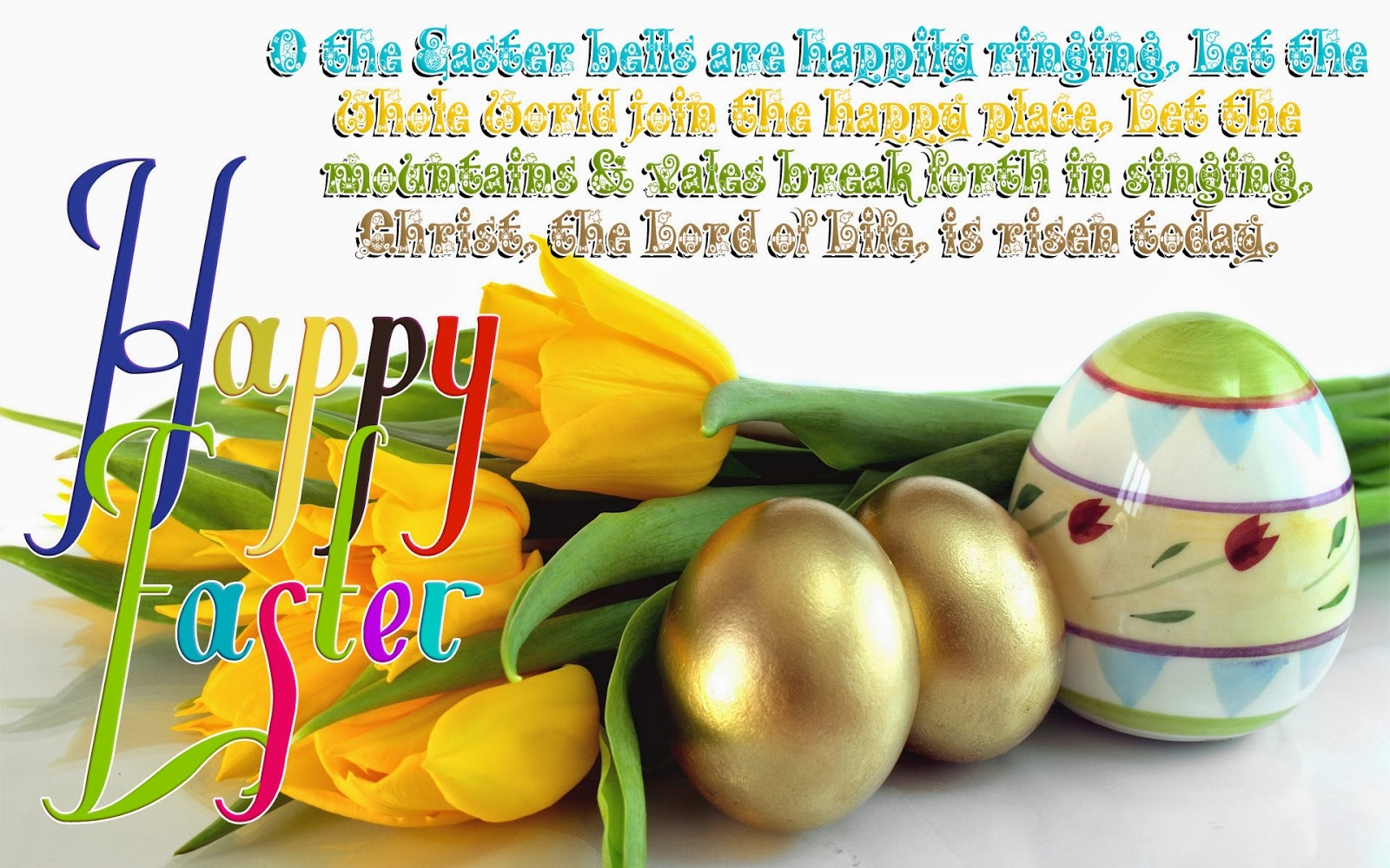 To My Wife Happy Easter.........Larger Easter Greetings Card
