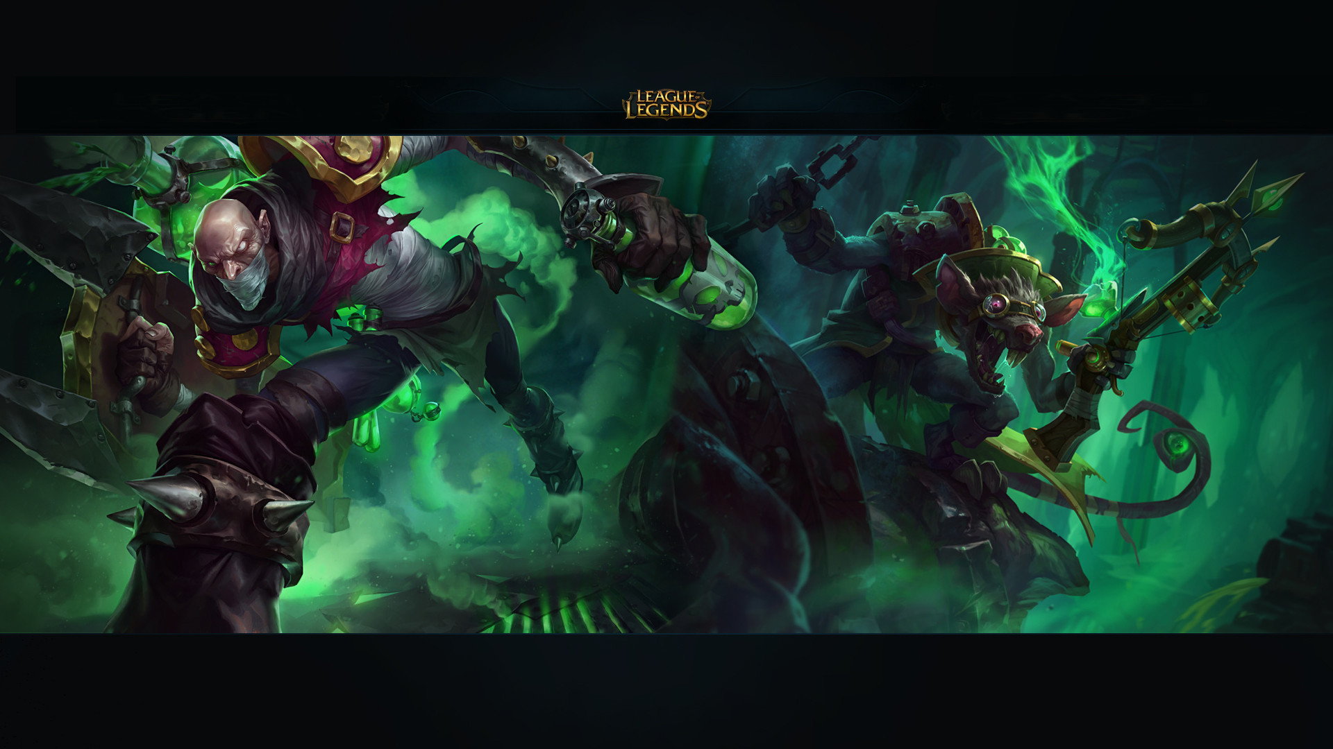 Toxic Duo Hd Wallpaper League Of Legends Twitch Animation