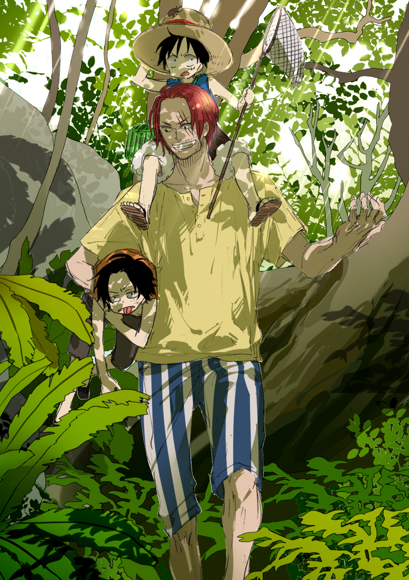 One Piece Shanks And Luffy And Ace 196265 Hd Wallpaper Backgrounds Download