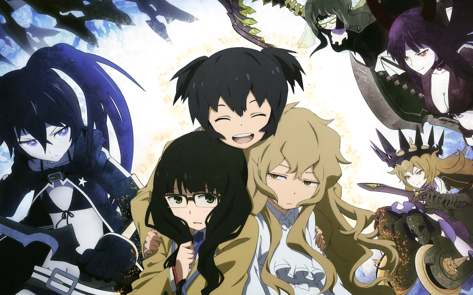 Black Rock Shooter Characters Chibi Black Rock Shooter Anime