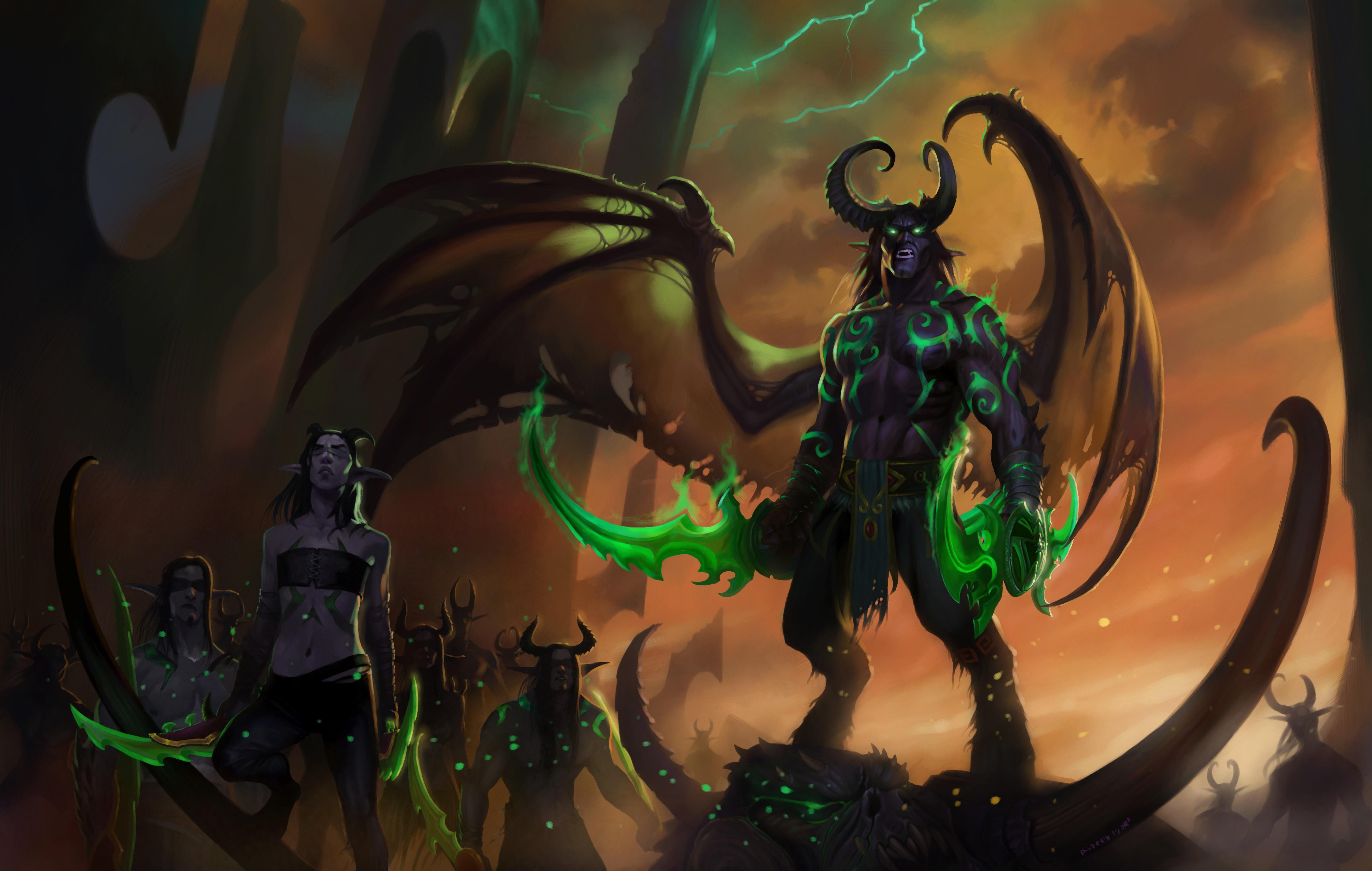 Wallpaper Art World Of Warcraft Illidan Stormrage Illidan