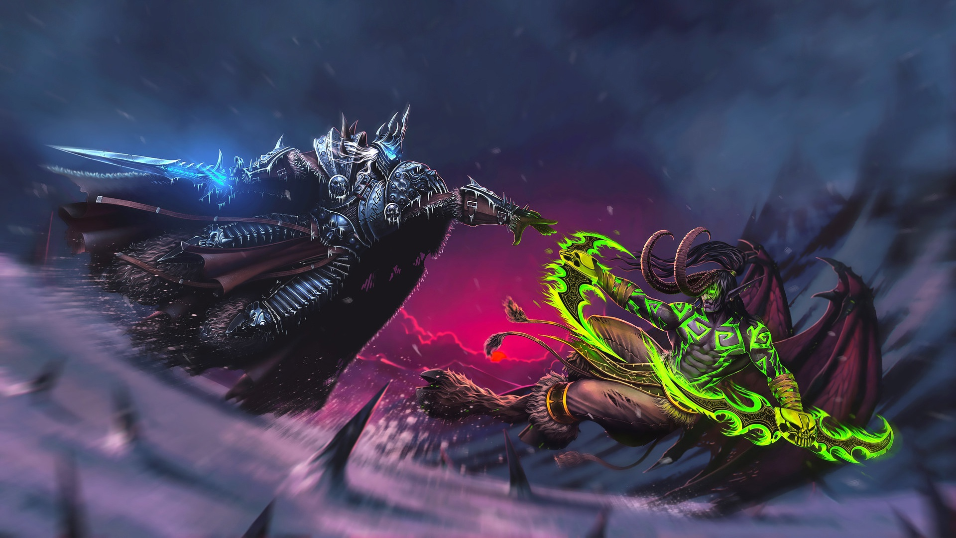 World Of Warcraft Illidan Stormrage Arthas Menethil