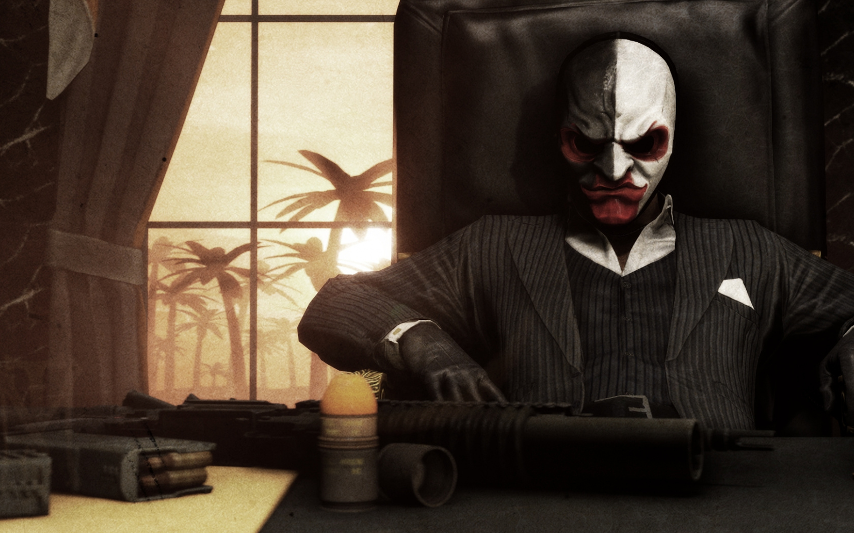 Wallpaper Scarface Payday 2 Video Game Mask Payday 2