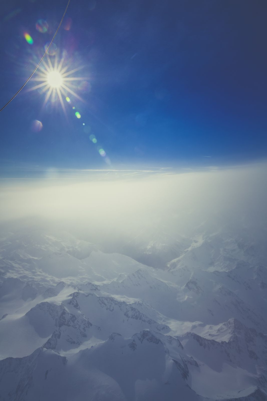 Nature Sky Landscape Mountains Snow Winter Sun Fog Aerial